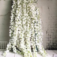wholesale 20pcsset artificial wisteria flower hanging rattan bride flowers garland for home garden hotel decoration