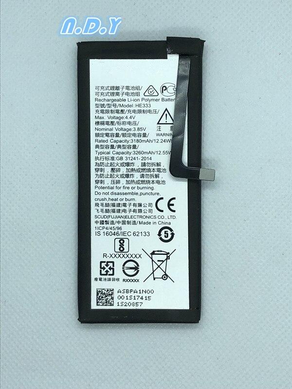 Original he333 3260 mah bateria para nokia 8 sirocco he 333 baterias bateria