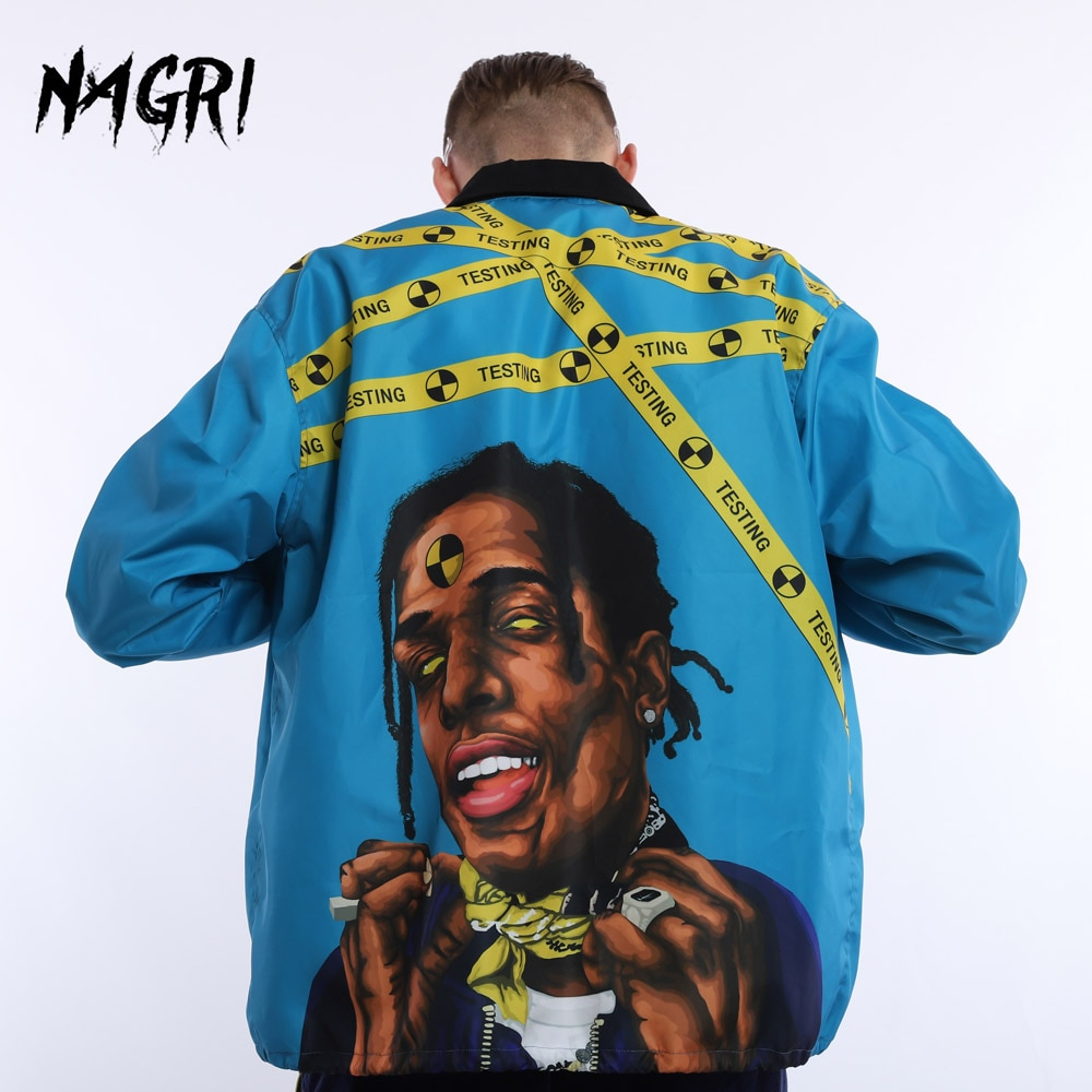 O mais cedo possível rocky men bomber jaqueta primavera outono hip hop blusão piloto casaco rap estrela carga streetwear jaqueta casual agasalho
