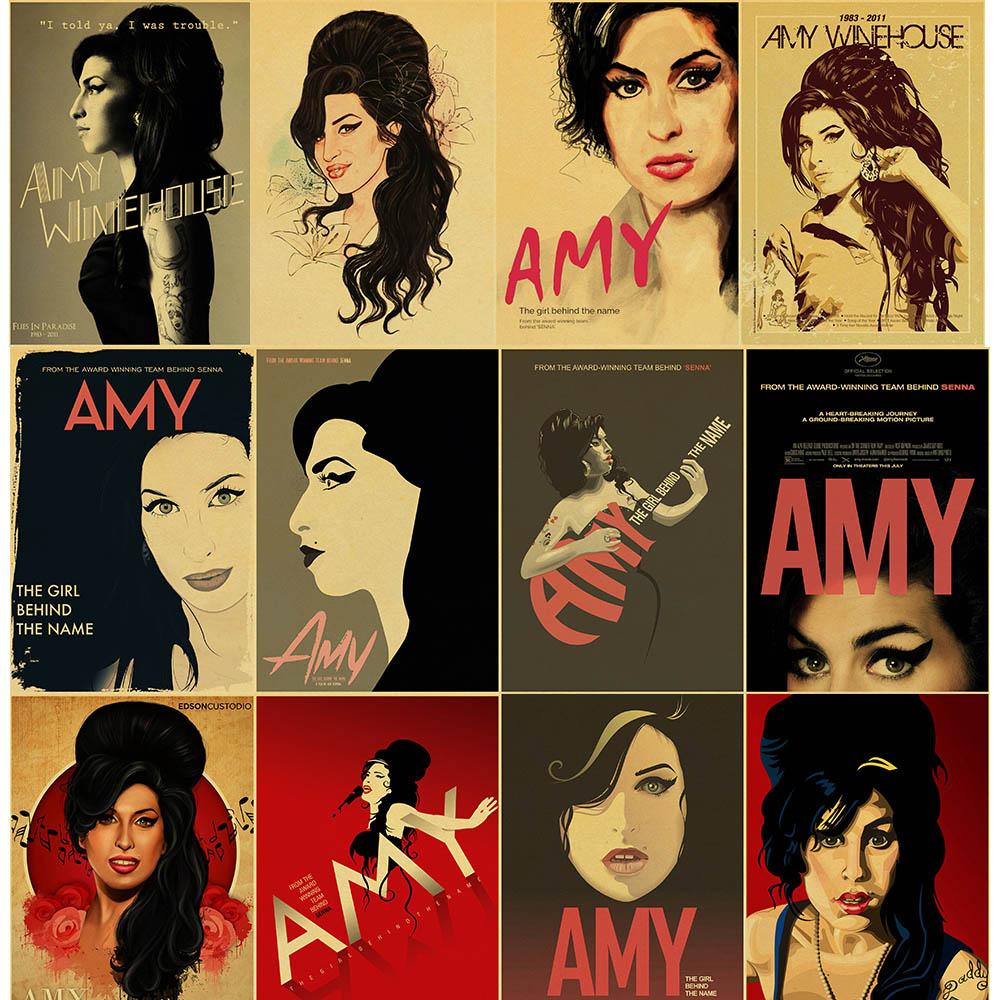 Cantante de música Amy Winehouse diamante pintura póster estilo 5D DIY diamante bordado pintura Retro Decoración del hogar arte de la pared