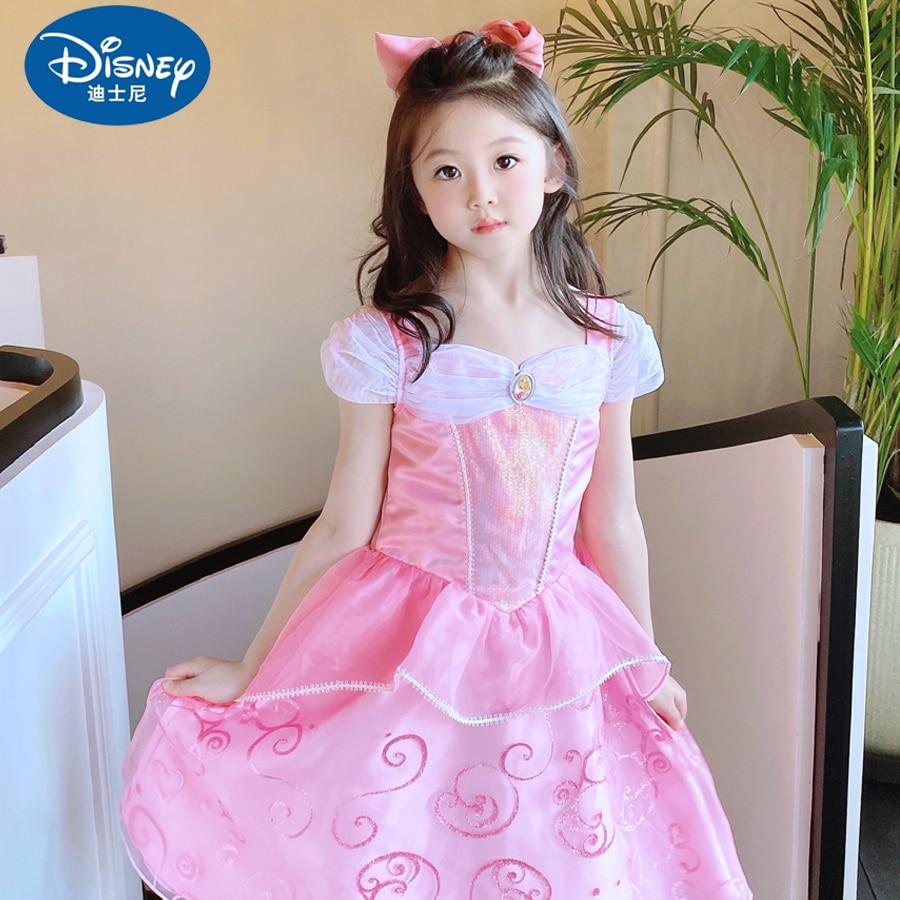 Disney Ailo Sleeping Beauty Princess Dress Summer Girl 'S Dress Catwalk Western Style Little Girl 'S Dress New Ball Gown