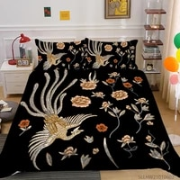 3d phoenix printing bed set cover king queen single size luxury highend bedding set adult man woman home textiles pillowcase