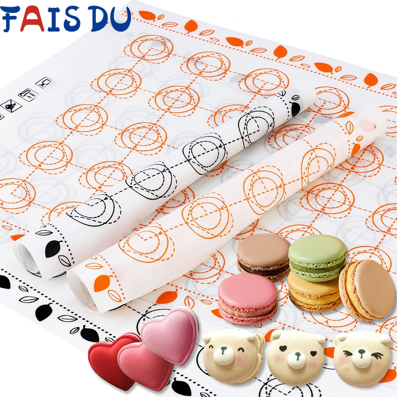 AliExpress - Silicone Baking Mat Fondant Bakeware Macaron Oven Home Non Stick Baking Tools For Cakes Pastry Tools Sheet Dough Roll Mats Pad