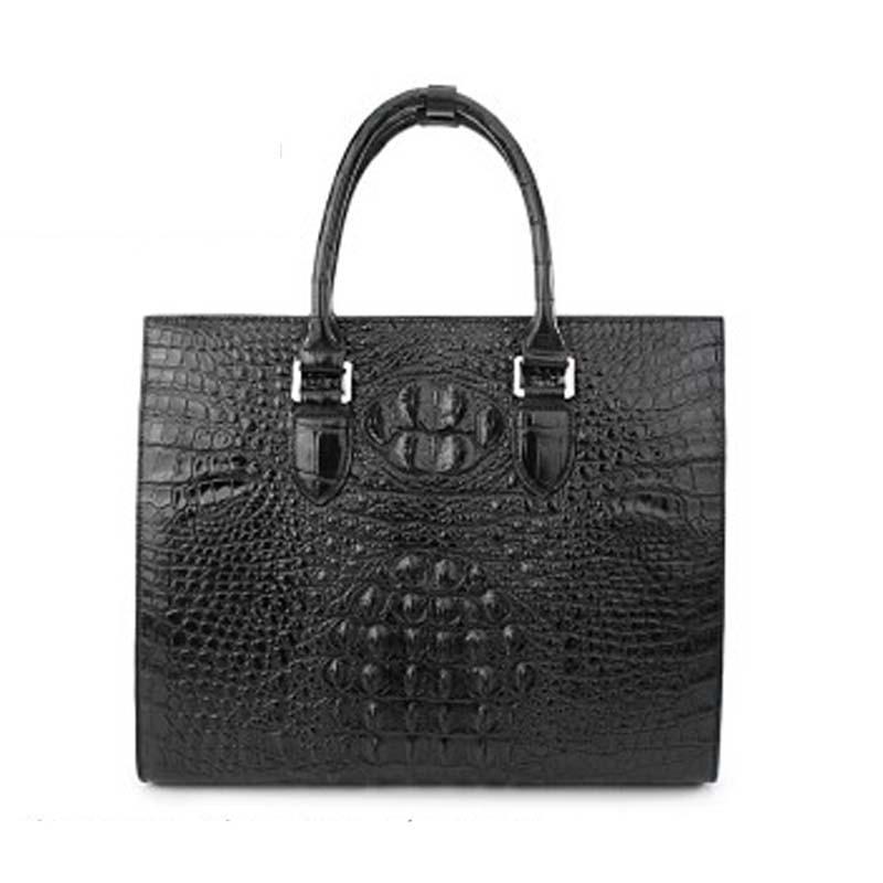 weitasi Crocodile leather men handbags fashion bag large capacity briefcase male business and leisure travelers alligator skin