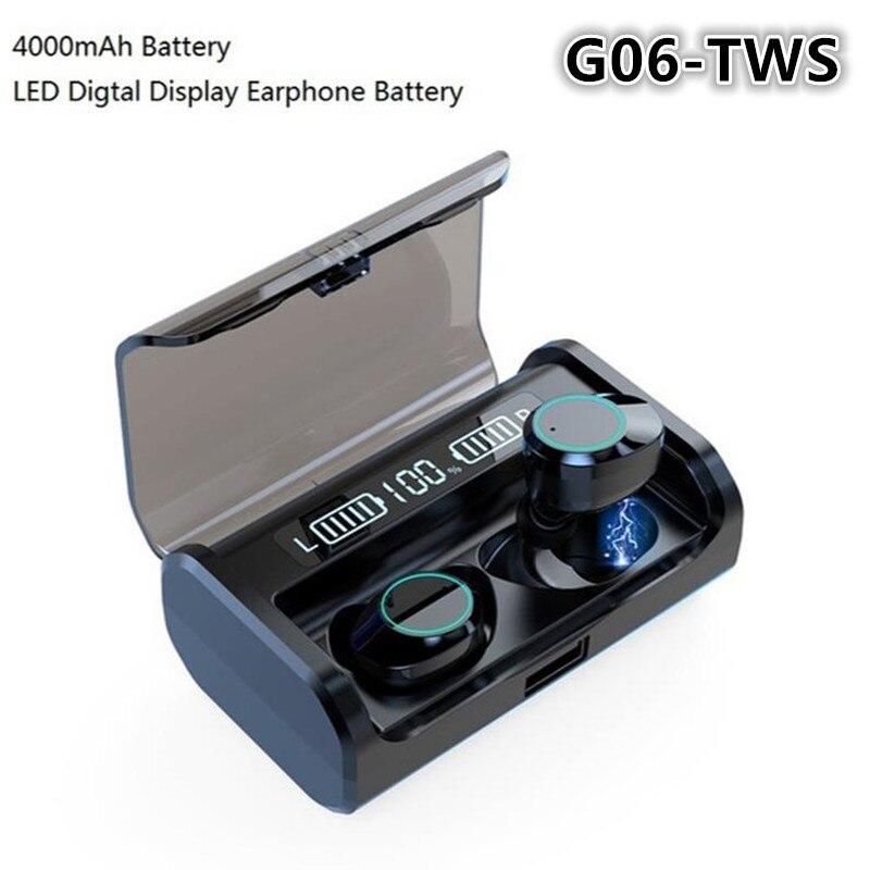 TWS G06 auriculares inalámbricos Control táctil Bluetooth 5,0 auriculares a prueba de agua super bajo efecto de sonido auriculares con cancelación de ruido