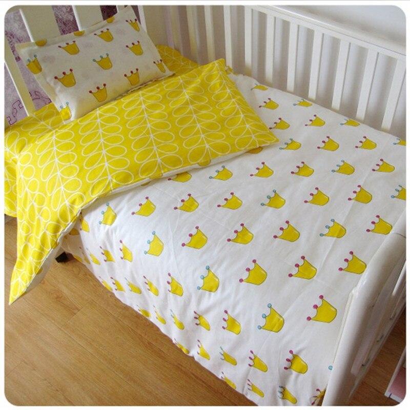 Комплект детского постельного белья из 3 предметов хлопковые комплекты для