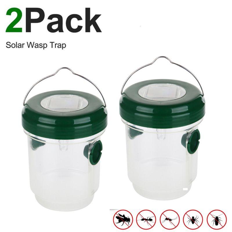 Trampa de avispa no tóxica, trampa Solar reutilizable con luz ultravioleta para atrapar abejas, avispas, avispas, amarillo Ja