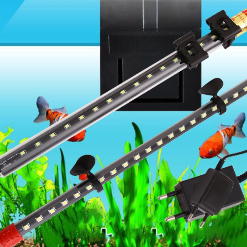 Acuario LED DC12 V impermeable 30-40cm luz tanque lámpara tira sumergible peces Bar decoración acuarios