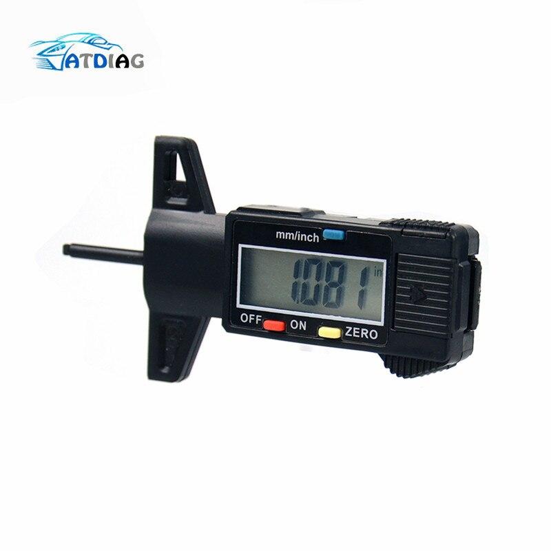 Auto coche Digital medidor de profundidad de la banda de rodadura del neumático calibrador de herramienta de medición pantalla LCD banda Checker de Tester para coches
