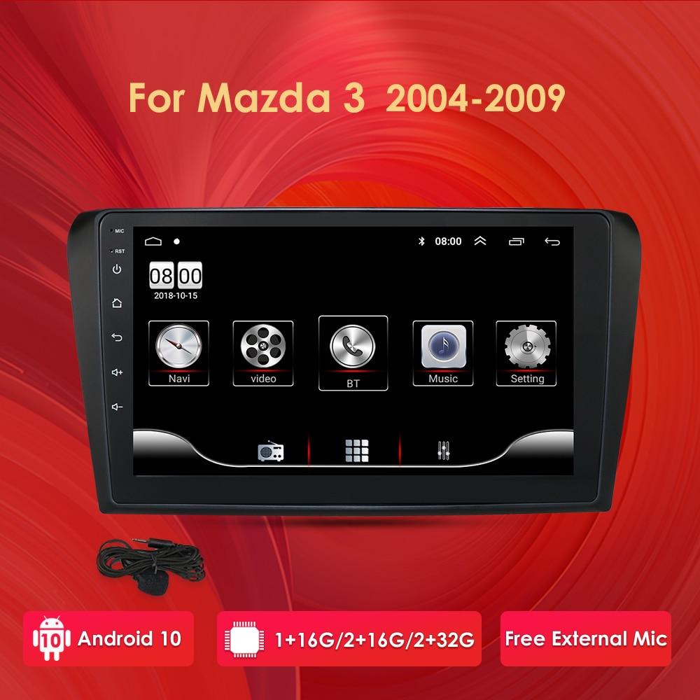Android 10 9 Zoll Auto Radio Stereo GPS Navigation Für Mazda 3 2004 - 2009 1G 16G WIFI freies KARTE Quad Core Auto Multimedia-Player