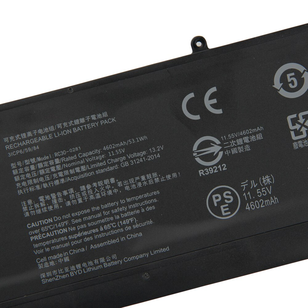 Replacement Laptop Battery RC30-0281 RZ09-0281 For Razer Blade Stealth 13 2018 2019 RZ09-02812E71  Rechargeable Battery 4602mAh enlarge