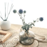 high quality blue planet everlasting natural preserved dried flower photograph wedding newyear store home art life decoration