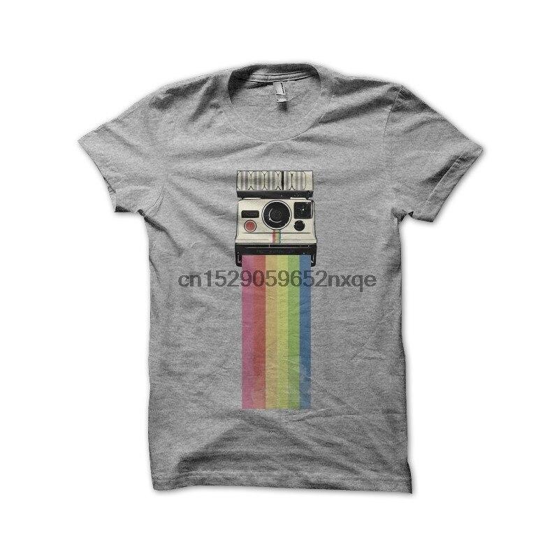 Men T Shirt polaroid gray shirt tshirts Women T-Shirt