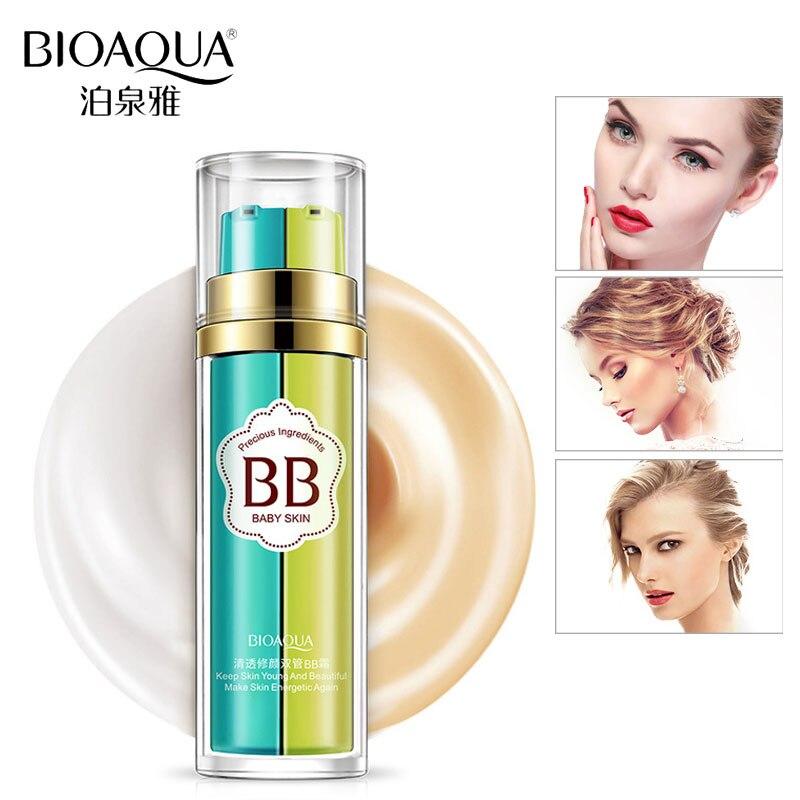 BIOAQUA Base de Primer Color doble + BB Cream Base líquida maquillaje humectante corrector Facial desnudo cosméticos