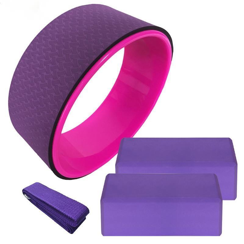 Roda de Yoga Aberto para trás Pilates Quatro Peças Conjunto Anel Yoga Volta Flexão Shenda Tijolo Estiramento Cinto Treinador