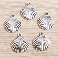15pcs 2224mm antique silver color sea shell charms for jewelry making necklaces earrings pendants making accessories diy crafts