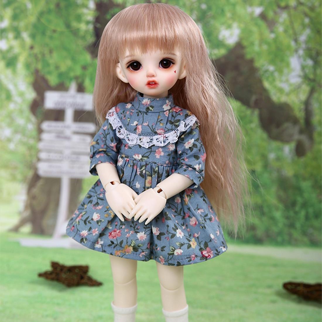 1/6 rotule poupées femme maquillage BJD poupée avec accessoires de déguisement et yeux bruns mode poupée jouet cadeau-couleur de la peau rose