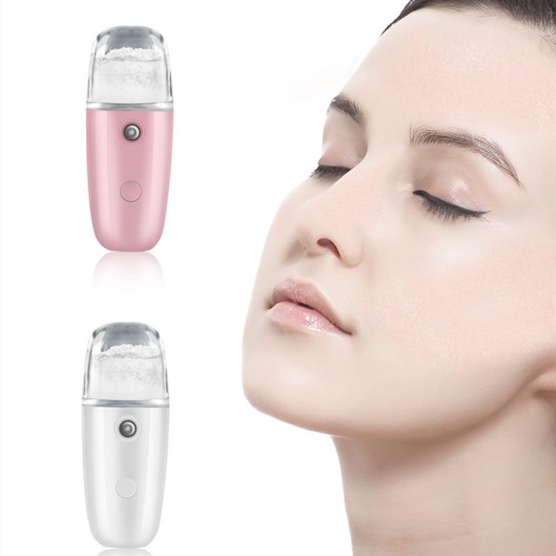 30ML Handheld Moisture Facial Steamer Ultrasonic Face Humidifier Sprayer USB Charging Nano Water Mist Maker Body Spray Nebulizer недорого