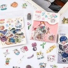 40 unids/lote magia feliz pegatina de papel para decoración Diy tu álbum diario Scrapbooking etiqueta papelería