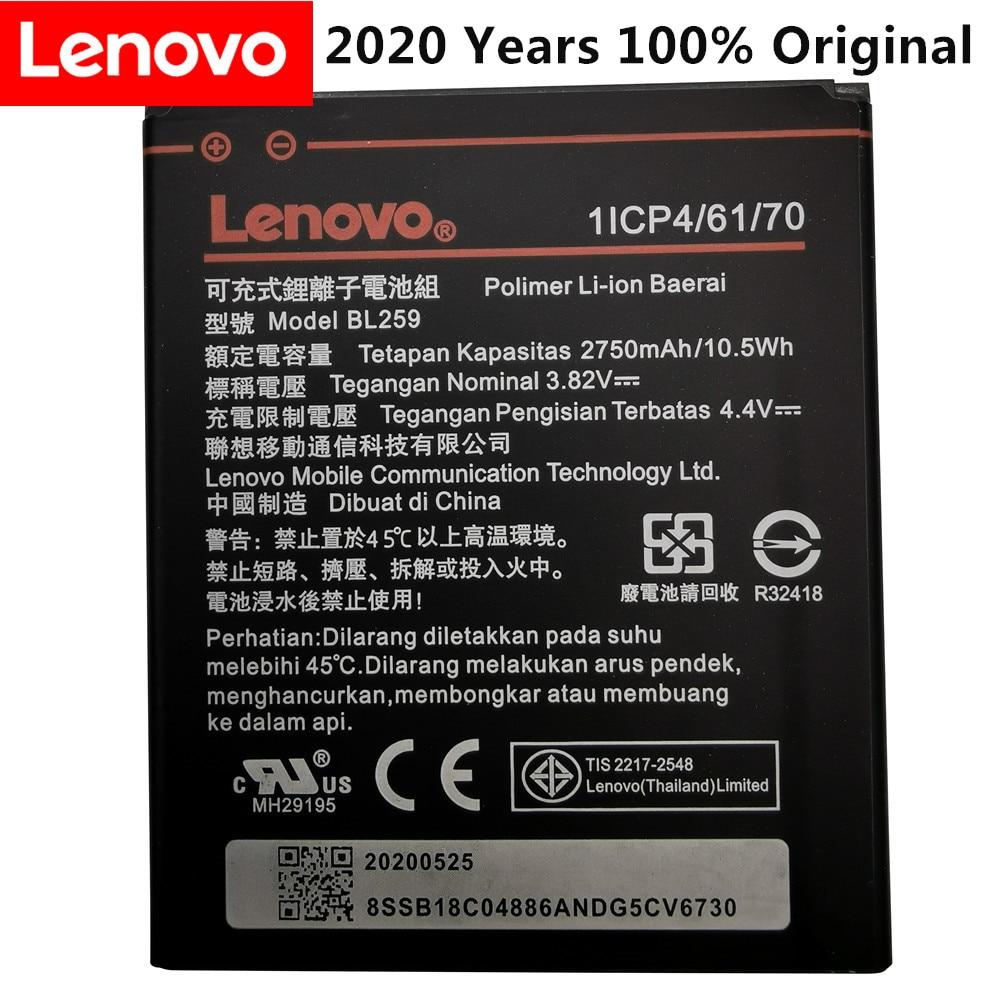 2020 Years 100% Original Tested New 3.82V 2750mAh BL259 For Lenovo Vibe K5 / K5 Plus / A6020 A6020A40 A6020A46 Battery недорого