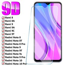 9H Protective Glass For Xiaomi Redmi Note 9 8 10 7 Pro Max 8T 9s Screen Protector On Redmi 9A 9 8A 9C 8 7 9T 7A Safety Glass