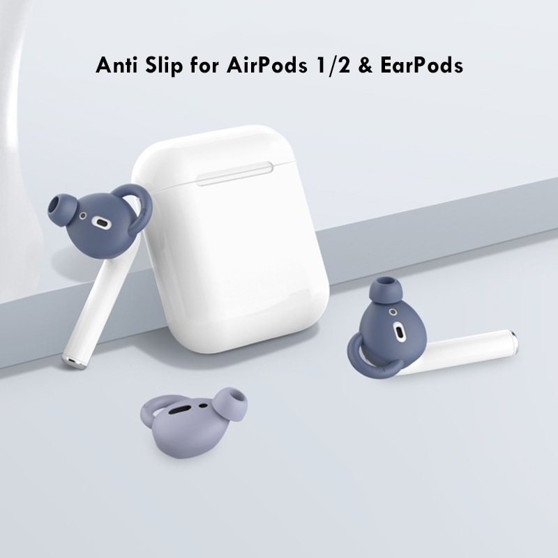 1:1 Silicone Case Ear Hook Cover for Apple AirPods 1 2 Passive Noise Reduction Earphone Sleeve for A