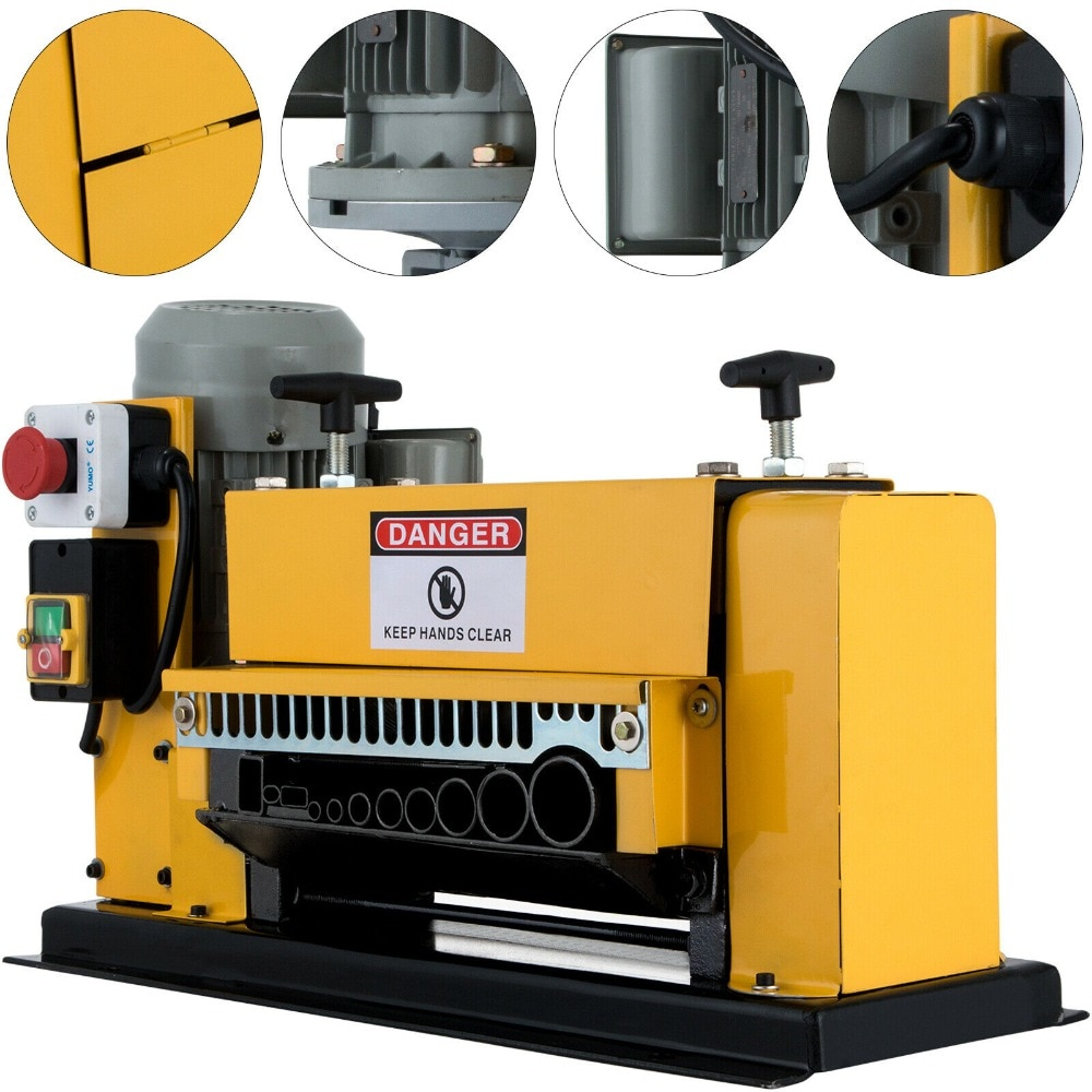Electric Powered Wire Stripping Machine Automatic Cable Stripper Metal Recycle enlarge