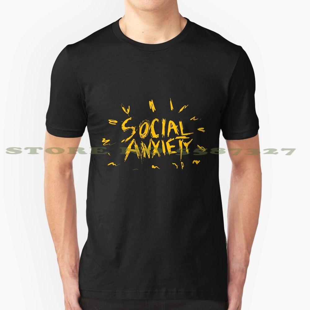Camiseta divertida personalizada con gráfico de Terror y ansiedad Social gran oferta