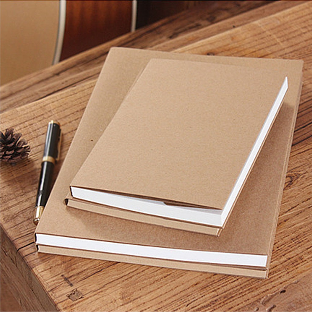 32K 13x19cm Retro Sketch Craft Paper Blank Notebook Sketch Drawing Book Journal Diary Note Stationery School Office loose leaf diary cowhide paper doodle book sketch block 1040913