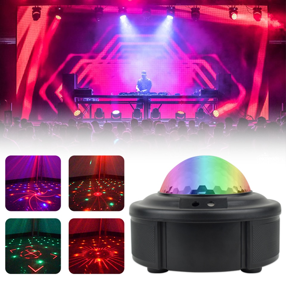 3w usb 5v mini disco ball lamp dj ktv stage light wireless ir remote voice activated lamp home party dance floor rgb light show 90 Patterns RGB LED Disco Light + 2 Laser Lights 5V Disco Lamp Laser Projection Stage Lighting Show for Home Party KTV DJ Dance