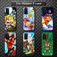hot game crash bandicoot phone case for huawei p40 pro lite p8 p9 p10 p20 p30 psmart 2019 2017 2018