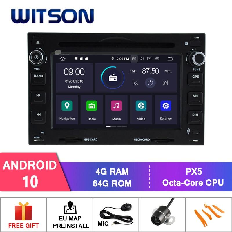 Android WITSON 10,0 4GB de RAM + 64GB FLASH 8 Octa Core GPS DVD de coche para VOLKSWAGEN GOLF B5 navegador estéreo GPS + DVR/WIFI + DSP + DAB + OBD
