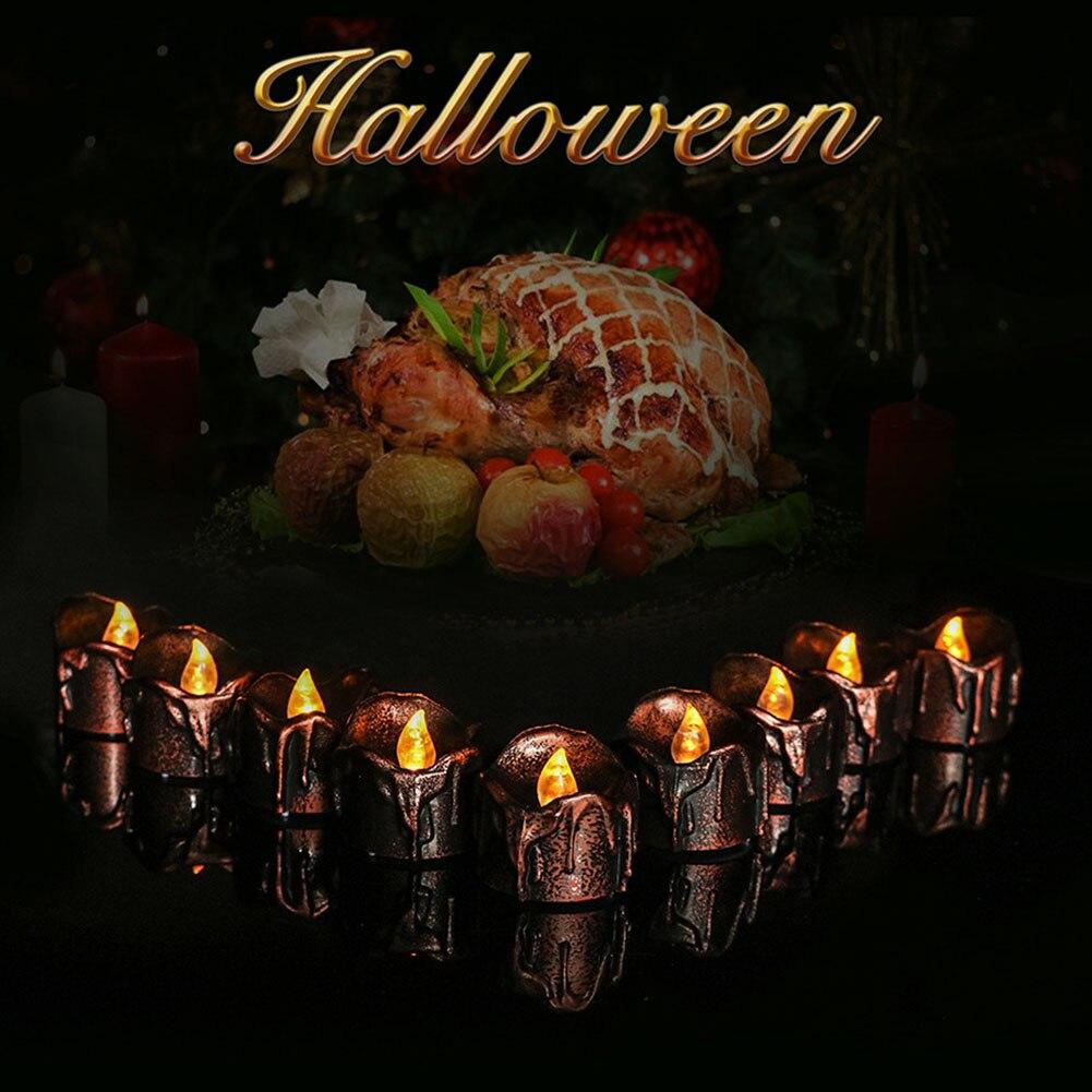 12 Uds. Luces de velas LED sin llama con pilas velas con lágrimas CLH @ 8