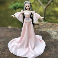 new 30cm 12 movable joint 16 bjd doll cute chinese costume fairy big swing skirt doll 3d eyes childrens toys gifts for girls