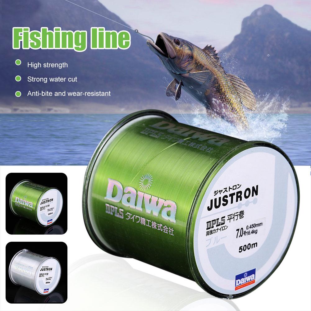 500M Nylon Fishing Line Japanese Durable Monofilament Rock Sea Fishing Line Thread Bulk Spool All Size 0.4 To 8.0