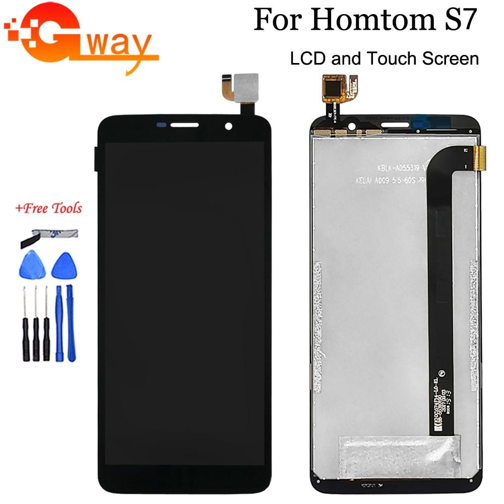 """100% testado 5.5 """"para homtom s7 display lcd + montagem da tela de toque substituição para homtom s7 modelo acessórios do telefone com ferramentas"""