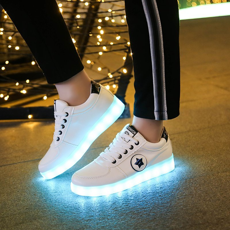 Hot Eur Size 30-44 USB Charge Led Sneakers Light Shoes Led Shoes Kids Luminous Sneakers for Girls&Bo