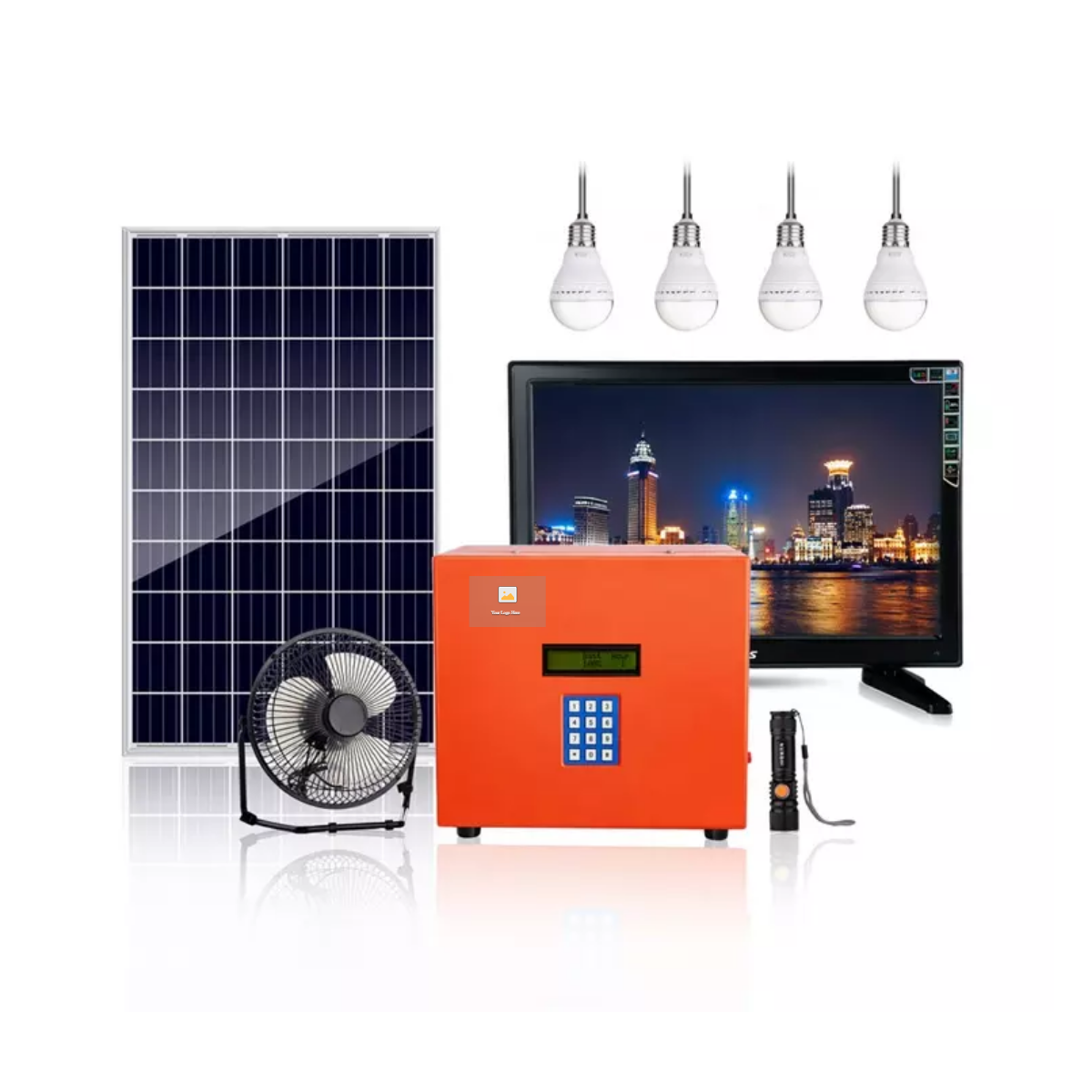 Portable payg solar generator 30W for home use all in one portable kit with lithium battery