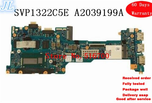 Основная плата для ноутбука sony Vaio SVP1322C5E SVP132 Series, материнская плата i3-4010U 8 Гб ram A2039199A
