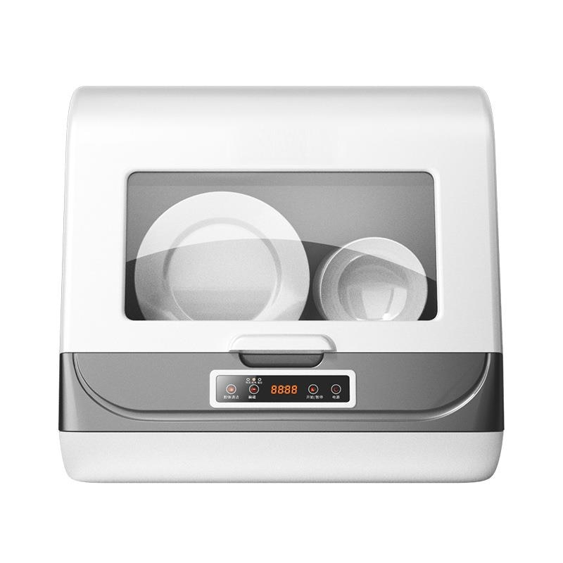 Fully automatic dishwasher, household desktop embedded, installation-free small sterilization, disinfection, drying and washing