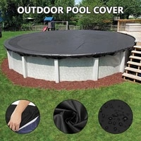 swimming pool cover outdoor round swimming pool mat cloth round swimming pool cover sun proof rain proof and dust proof