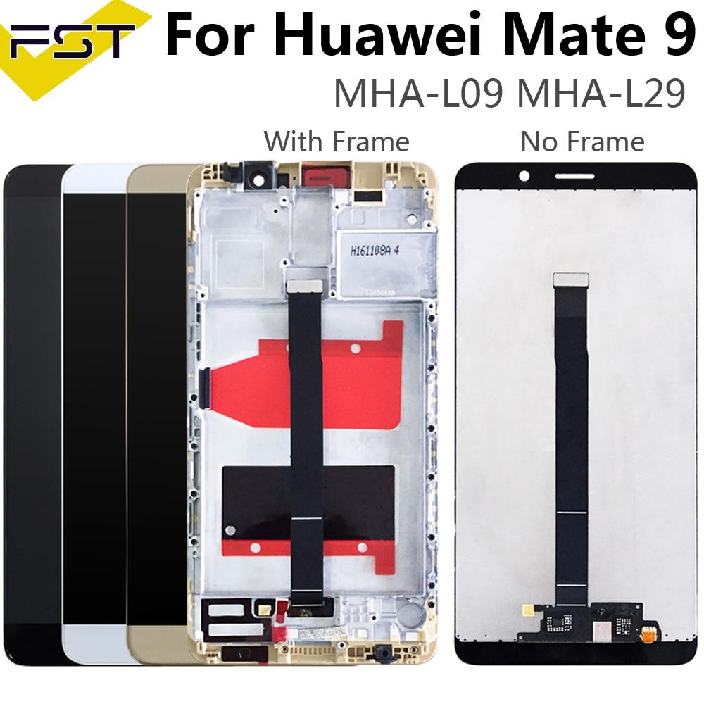 شاشة هاتف هواوي ميت 9, شاشة 5.9 بوصة لهاتف هواوي ميت 9 شاشة LCD + مجموعة المحولات الرقمية لشاشة تعمل باللمس مع إطار ولوحة زجاجية LCD + أدوات