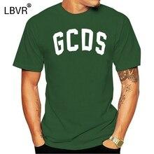 Marque Logo GCDS lueur T-shirt hommes à manches courtes couverture en coton noir 2018 hommes femmes dessin animé décontracté o-cou