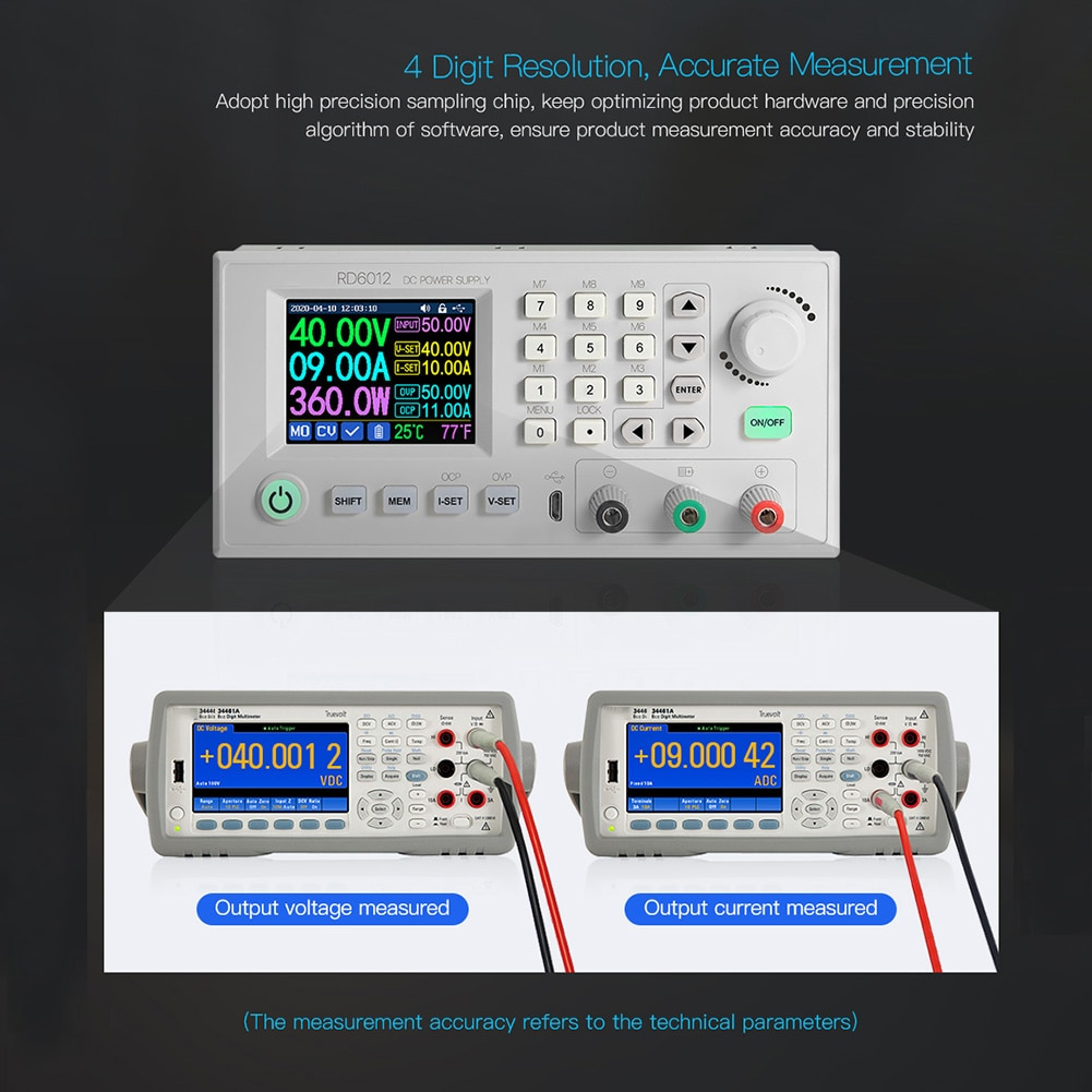RD6012 RD6012W Buck tension courant dalimentation cc Module abaisseur 60V 12A USB