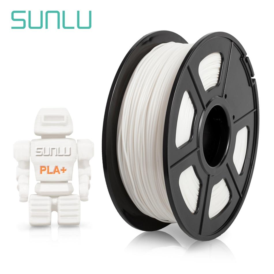SUNLU-خيوط للطابعة ثلاثية الأبعاد ، طابعة بلاستيك PLA PLUS ، مادة طباعة ثلاثية الأبعاد ، قطر 1.75 مللي متر ، مع بكرة 1 كجم