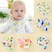 2021 new cute baby boys girls casual bibs saliva towel toddler bandana triangle head scarf