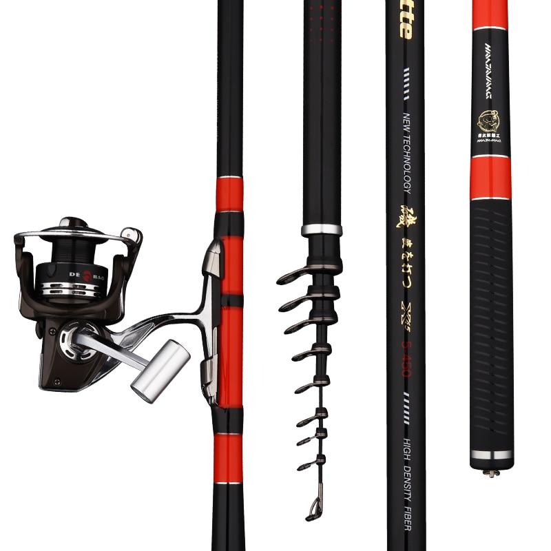 3# 5# Rock Fishing Rod Super Hard Telescopic Fishing Olta Hand Pole Dual-purpose Pesca 3.6m 4.5m 5.4m 6.3m Fishing Tackle