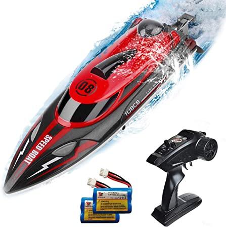 Fj808 RC قارب 2.4Ghz 25 km/h عالية السرعة التحكم عن بعد سباق السفينة قارب سباق المياه الأطفال لعبة مجسمة