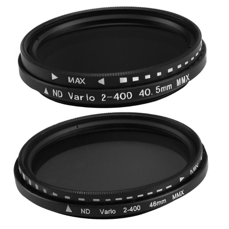 Densidad neutra Variable ajustable ND2 a ND400 Filtro de lente ND Delgado 40,5mm/46mm
