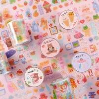 5cmx3m cartoon brown animal pet transparent washi tape decorative journal craft scrapbook masking tape label stickers stationery